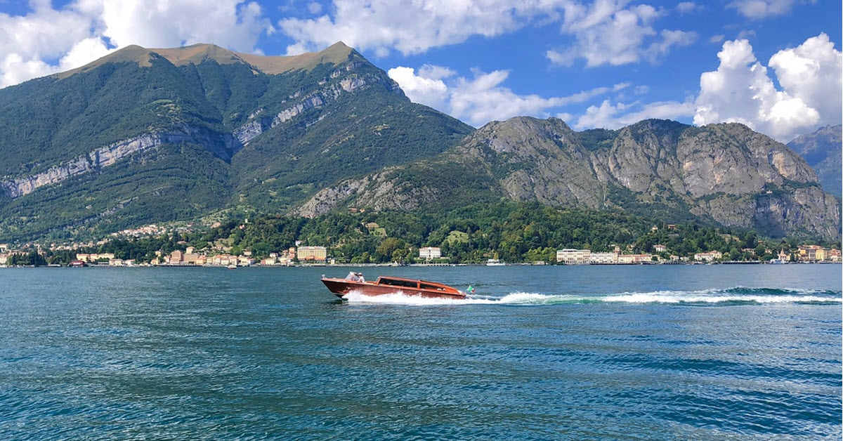 motorbåt lake como
